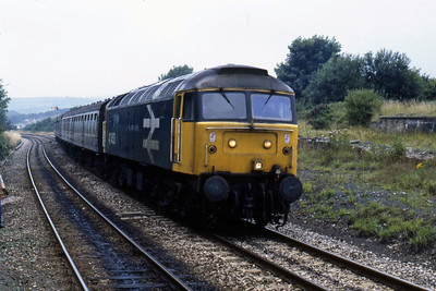 47453 arrives at Liskeard with the 1200 Penzance-Plymouth (12/08/1986)