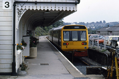 142022 is seen at Liskeard after working the 1245 from Looe (12/08/1986)