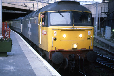 47362 is pictured again on arrival at New Street with 1M76 (02/08/1986)