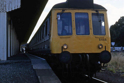 51325 + 59471 + 51310 await departure from Falmouth with the 0924 to Truro (16/08/1986)
