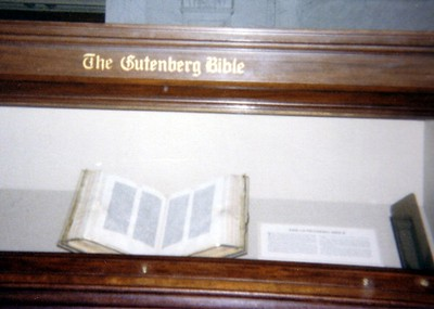 The Gutenberg Bible, at the Library of Congress