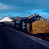 37419 at Thurso with the 18:05 to Georgemas Jn 19/02/86