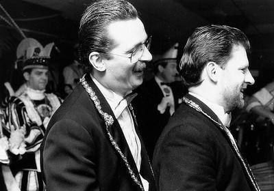 Het Kabinet op bezoek bij de Slurfers met Hans Alders (links) en Bas Teurlings