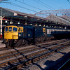 33042 departs Crewe with the 07:14 Manchester Pic - Cardiff Central 22/02/86