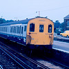 205023 arrives at Oxted with the 10:19 East Grinstead - London Victoria 13/09/86