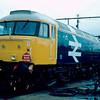 Recently overhauled 47411 at Crewe Works 02/02/86