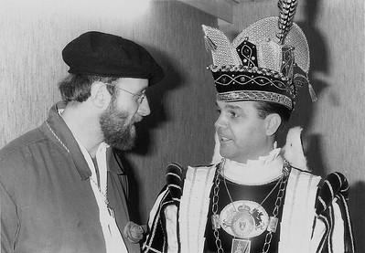 Prins Ger den Eerste met drs. Ed V.M. Kokke (Blauwe Schuit en daarvoor Kiek ze Kieke)