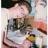 Dad gives baby Jinny a bath