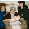 Great-Grandma Maggie, Grandma Jinny, Mom and baby Jinny