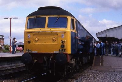 47901 at Westbury prior to working forward to Exeter via Yeovil on 1Z37 0727 Birmingham-Meldon Quarry charter (07/06/1987)