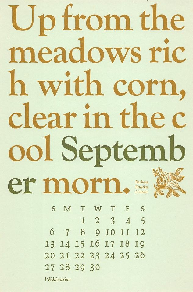 September, 1987, Widdershins