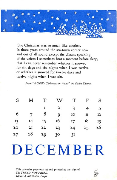 December, 1987, Tread-Not Press