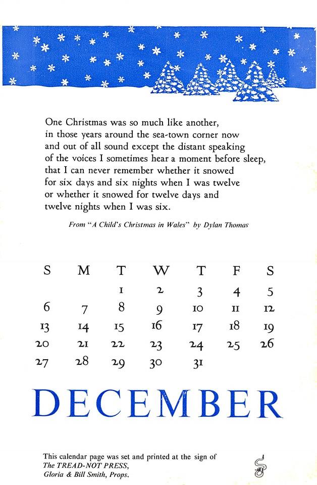 December, 1987, Tread-Not Press