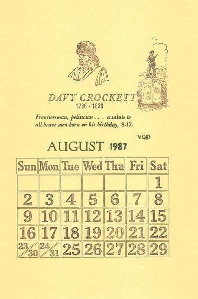 August, 1987, Village Green