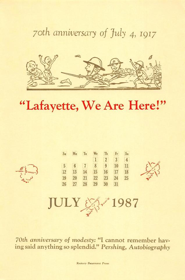 July, 1987, Rectory Basement Press