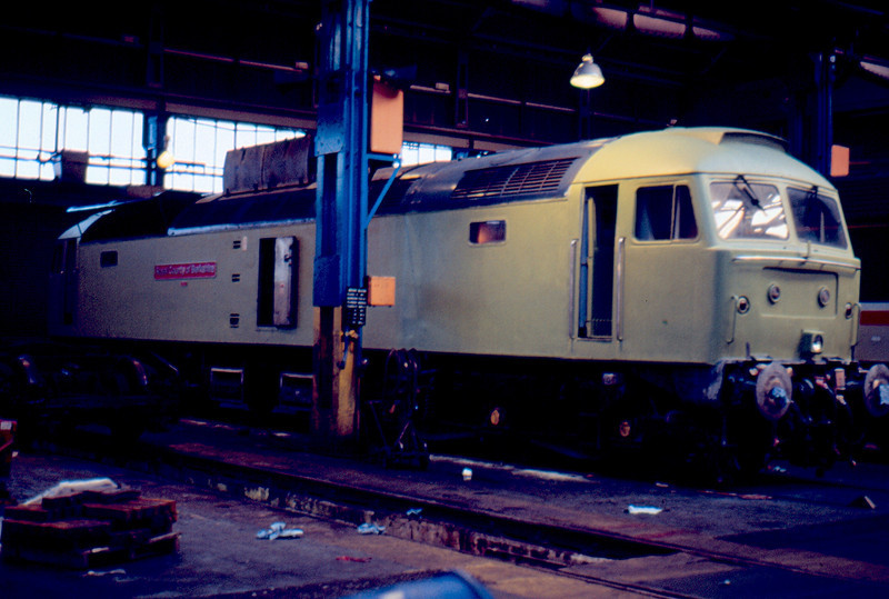 47621 undergoing a repaint at Old Oak Common Depot 14/03/87