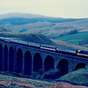 47509 crosses Arten Gill viaduct with the 07:26 Coventry - Glasgow Central & Edinburgh 02/05/87