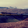 47637 at Blea Moor working the 07:45 Ayr - London Euston 21/02/87