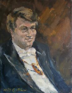 Een schilderij van Harm Scheepbouwer