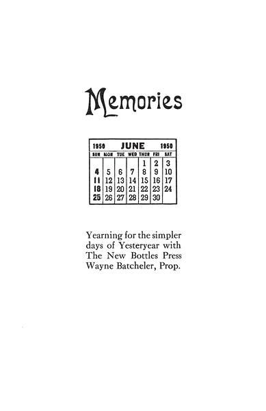 June, 1987, The New Bottles Press