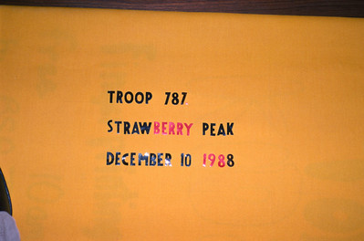 12/10/1988 - Strawberry Peak Hike