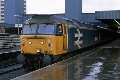47446 departs from Leeds with 1E08 1103 Liverpool - Newcastle (30/01/1988)