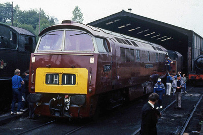 D1062 'WESTERN COURIER' is seen on shed at Bridgnorth during the Severn Valley Railway's Diesel Gala (08/05/1988)