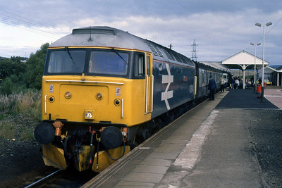 47604 'Women's Royal Voluntary Service' calls at Keith with 2Hxx 1325 Aberdeen - Inverness (14/09/1988)