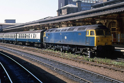 47335 calls at Sheffield with 1Z50 0925 Liverpool - Nottingham relief (06/08/1988)