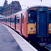 318262 + 318269 at Ayr with the 13:45 to Glasgow Central 12/03/88