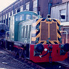 Class 07 D2991 used as internal works shunter at Eastleigh Works 26/03/88