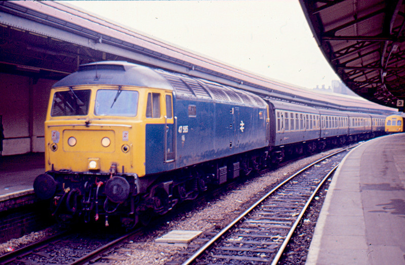 47565 at Swansea working the 16:05 to Portsmouth Harbour 16/01/88