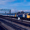 47639 arrives at Cardiff Central and will go forward as the 13:05 to Portsmouth Harbour 27/02/88