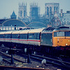 47522 departs back to London Kings Cross with the return Class 40 farewell tour 16/04/88