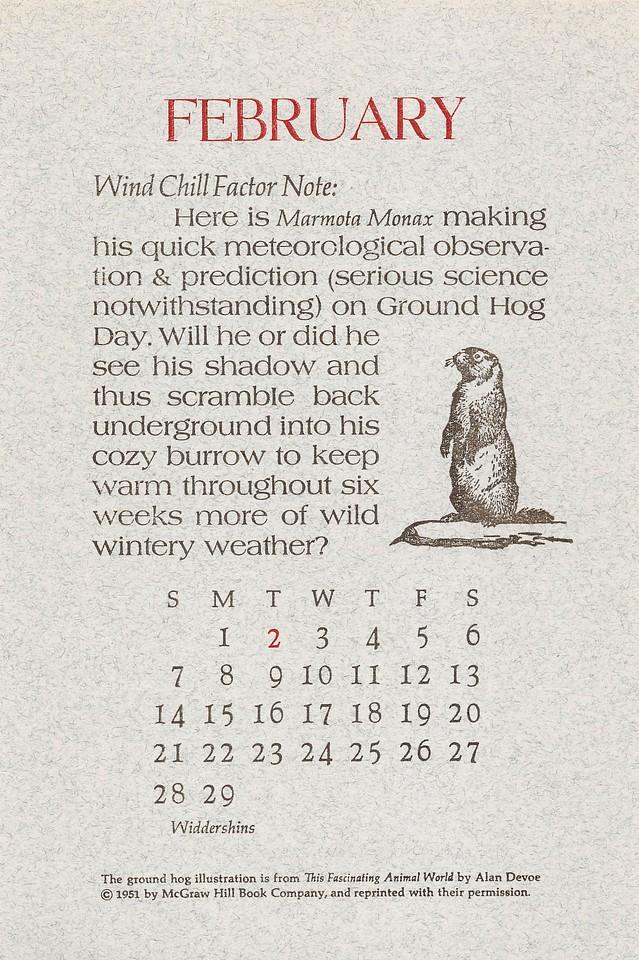 February, 1988, Widdershins