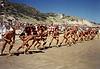 1990-01 UT Race - swim leg start
