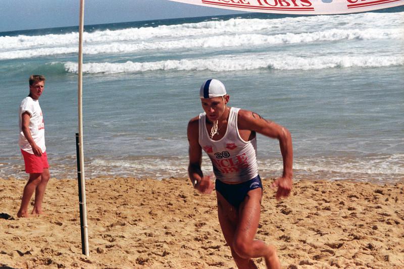 1990-01 UT Race - ski leg finish