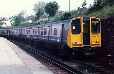 508 103 at New Brighton on 11th June 1989