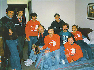 Lewis & Clark Relay - 1989 - Back at the hotel with the championship plaque