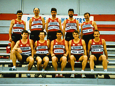 Lewis & Clark Relay - 1989 - The team in their singlets