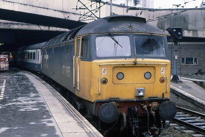 47665 at Birmingham New Street after working 1M21 1109 from Leeds (03/03/1989)
