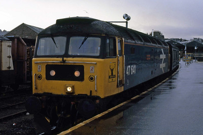 47641 'Fife Region' awaits departure from Inverness with 1B38 1015 to Edinburgh (05/01/1989)