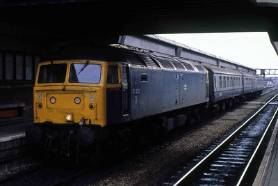 Deputising for the booked 'DMU', 97472 is pictured on arrival at Derby 2P84 1138 from Crewe (06/03/1989)