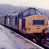 37420 at Kyle of Lochalsh with the 16:40 to Inverness 17/01/89