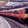 318257 at Gourock with the 14:05 to Glasgow Central 16/01/89