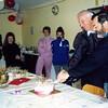 Mario Baron & Bevan Walls cutting the birthday cake