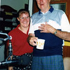 Karen and Neville (with his last cup of coffee!)