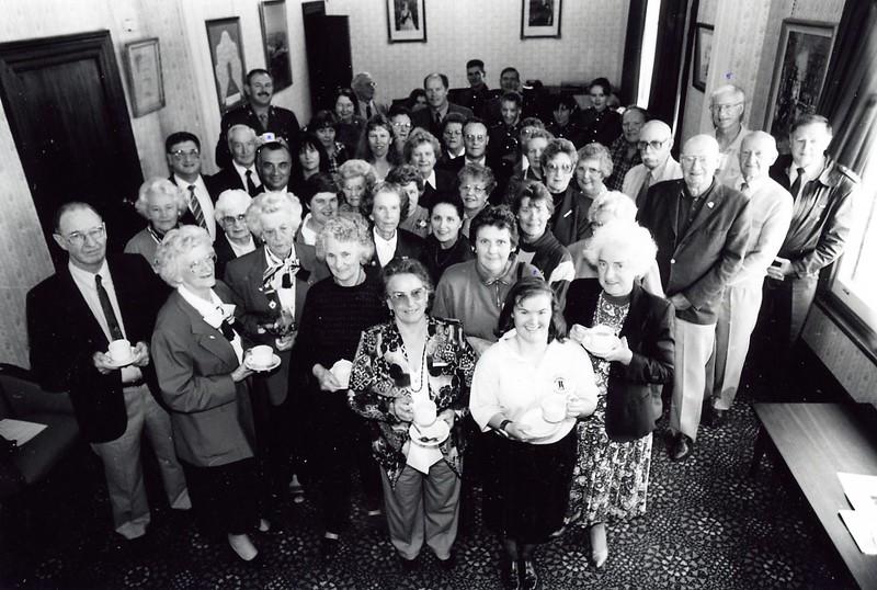 City Council volunteers morning tea, May 1996. Michael Georgiou, Karen Sherston, Mark Childe
