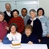 (rear) Noel Bottrell, Mark Childe (standing) ?, Enid Witt, Michael Georgiou, Dawn Wilson, Val Vearing, ?. Sitting: Henne Hermes, Lois Cabot