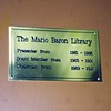 The library plaque